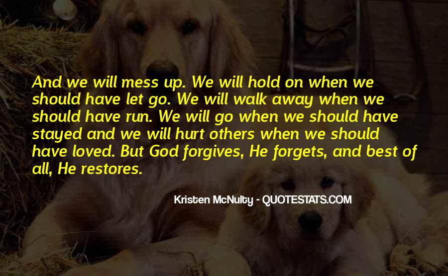 Let Go Hold On Quotes #1503800