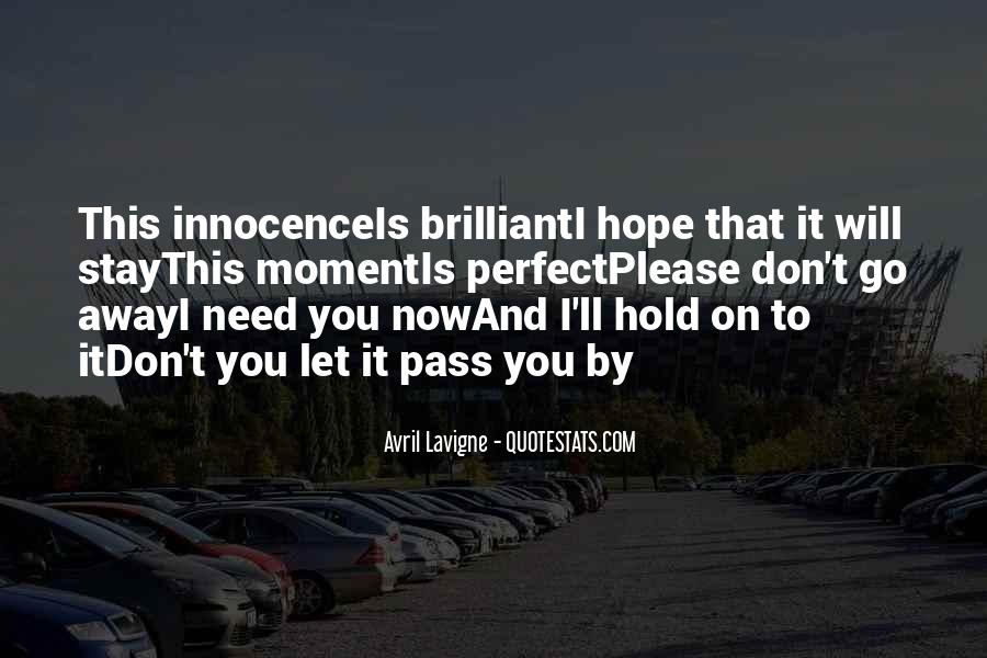 Let Go Hold On Quotes #48673