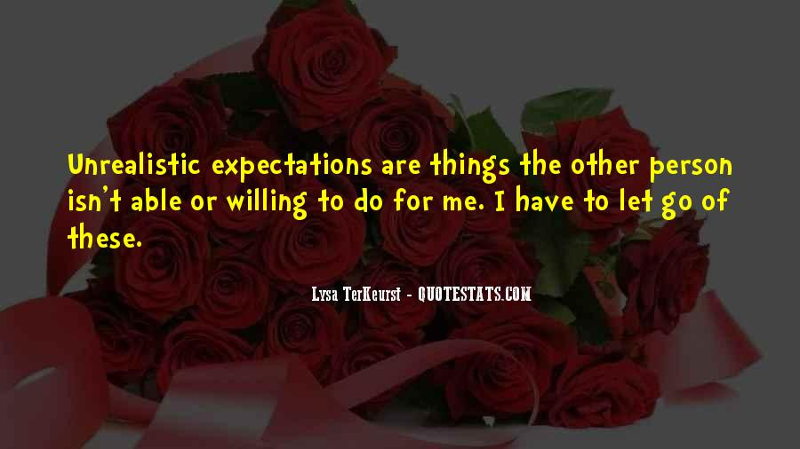 Let Go Of Expectations Quotes #154597