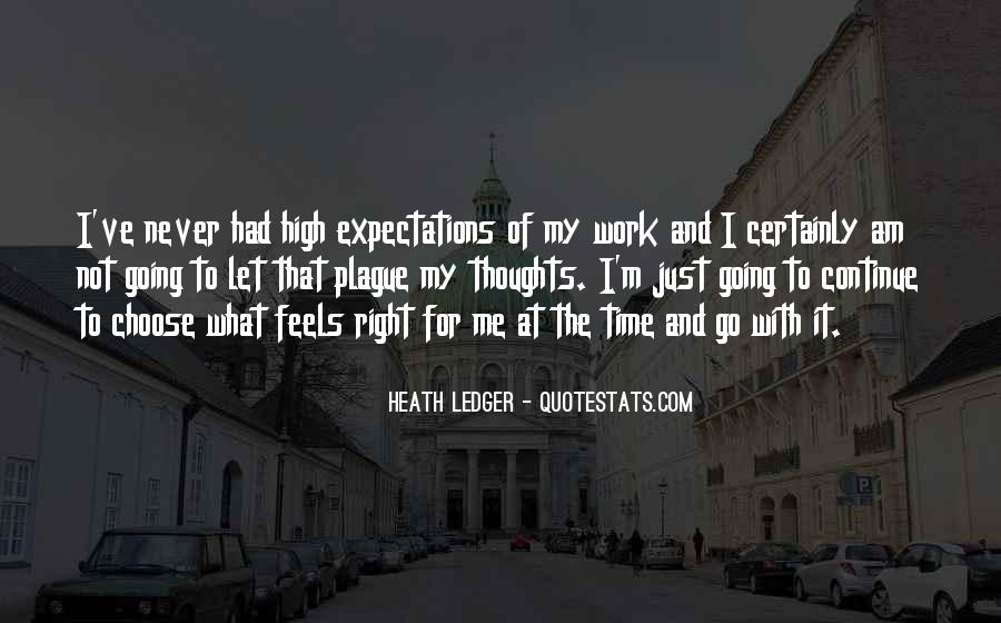 Let Go Of Expectations Quotes #1688936