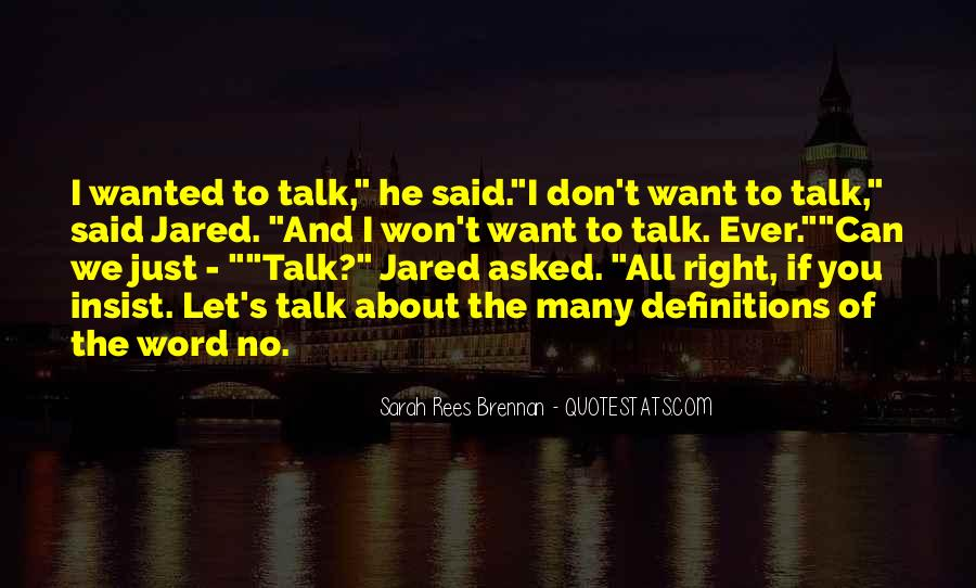 Let Them Talk About Us Quotes #10431