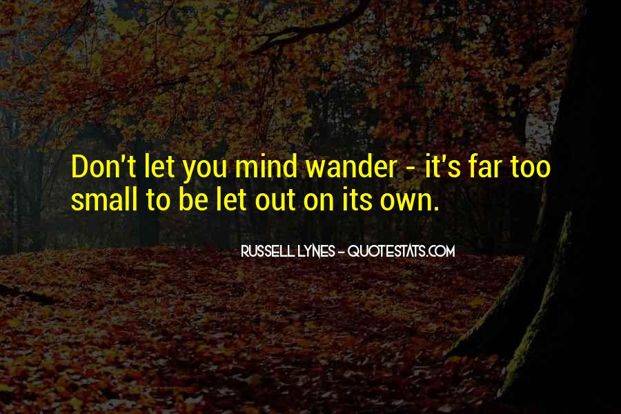 Let Your Mind Wander Quotes #896462