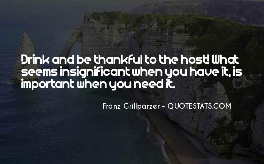Let's Be Thankful For What We Have Quotes #30117