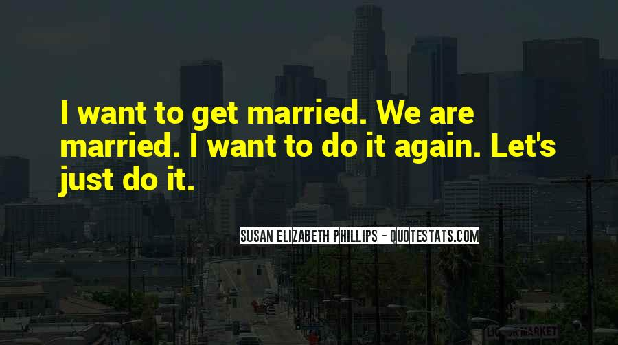 Let's Get Married Quotes #1041456