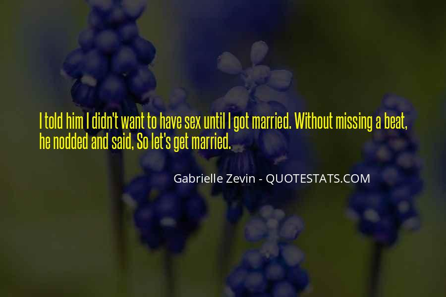 Let's Get Married Quotes #1447542