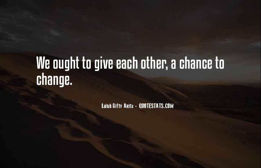 Let's Give Love A Chance Quotes #153068