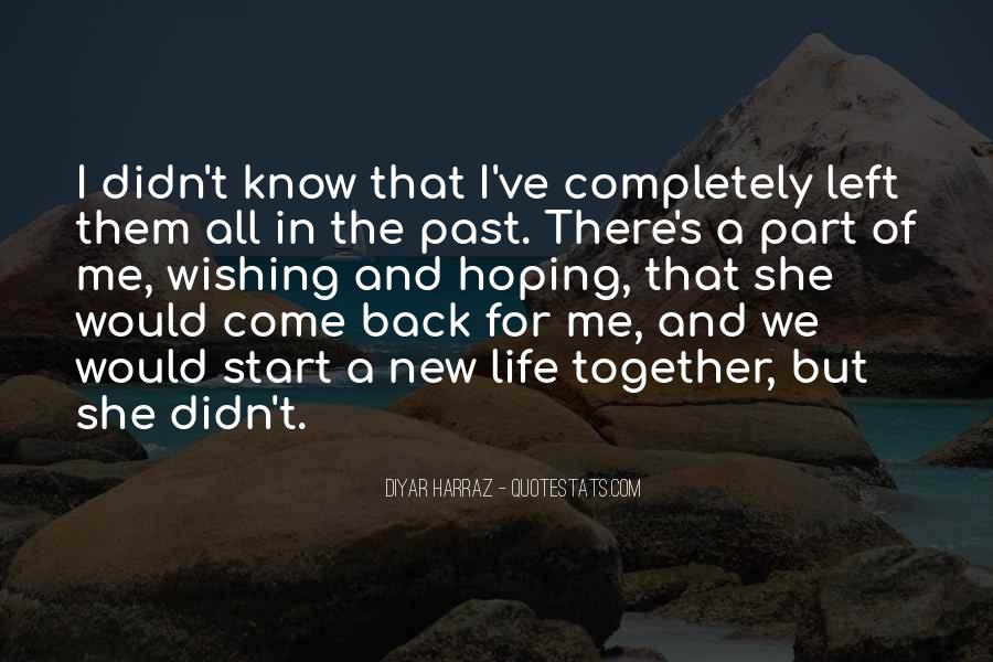 Let's Start Life Together Quotes #840613