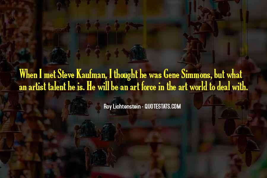 Lichtenstein Pop Art Quotes #235326