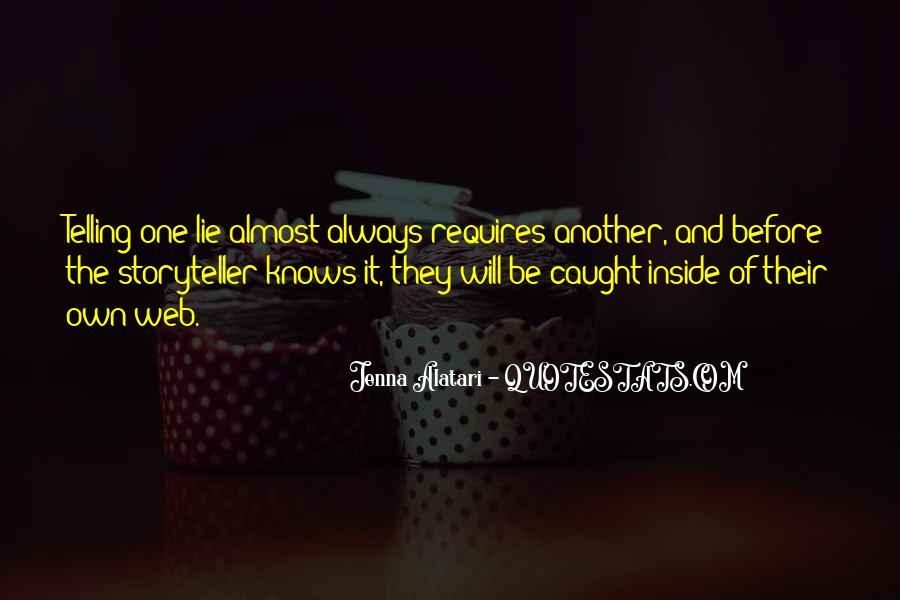 Lie Caught Quotes #1764991