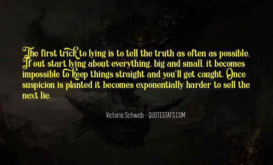 Lie Caught Quotes #1819141