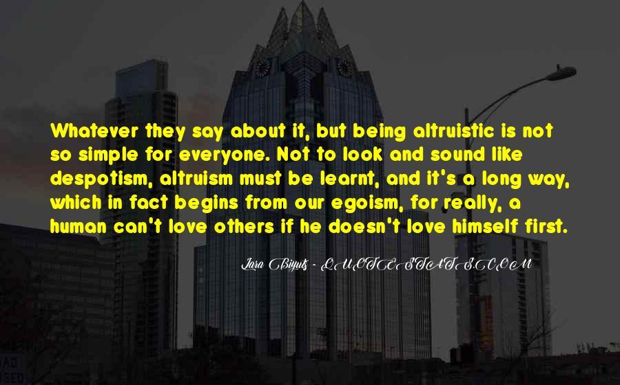 Life Altruism Quotes #1785550