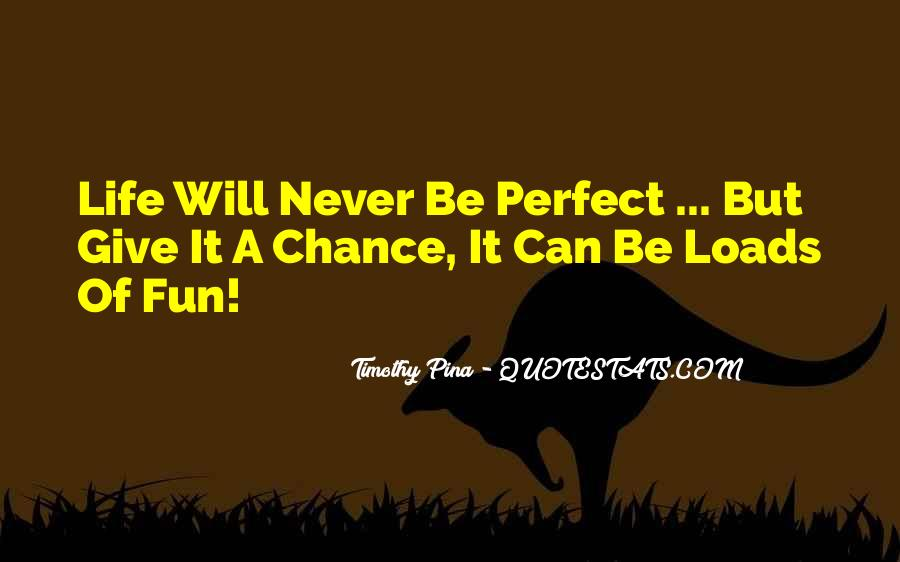 Life Can't Be Perfect Quotes #1196452