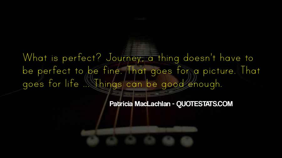 Life Can't Be Perfect Quotes #1247396
