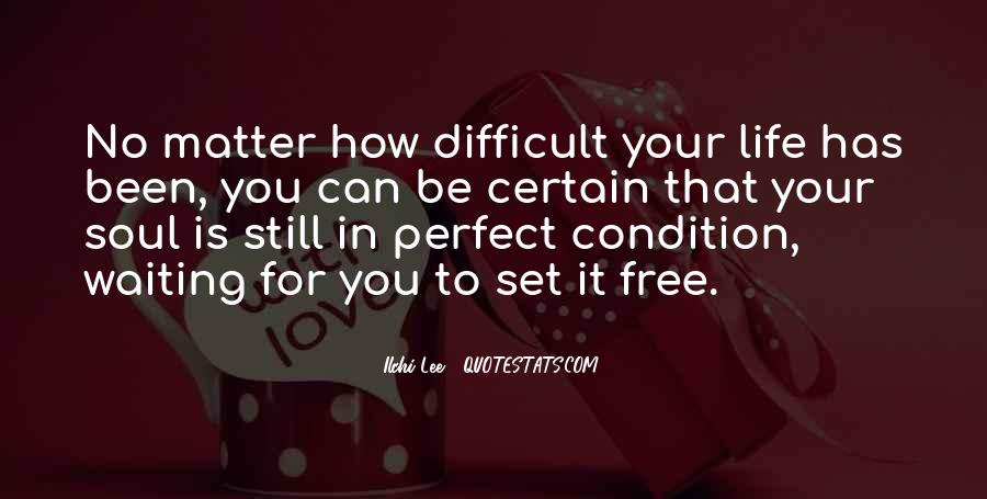Life Can't Be Perfect Quotes #1495461