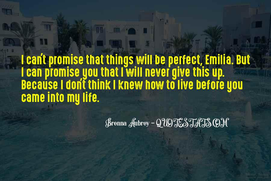 Life Can't Be Perfect Quotes #1611378