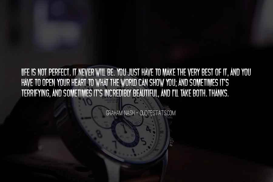 Life Can't Be Perfect Quotes #1737637