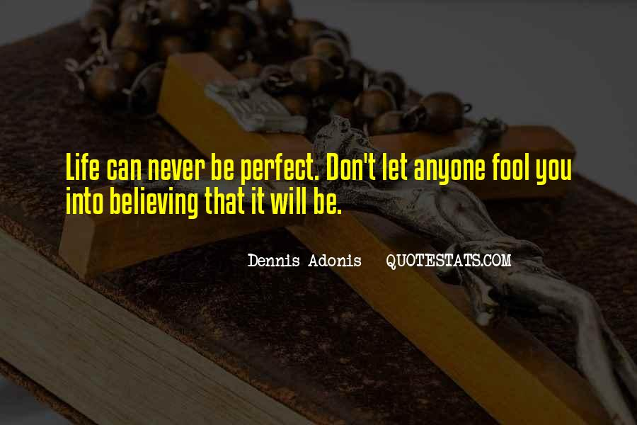 Life Can't Be Perfect Quotes #721574