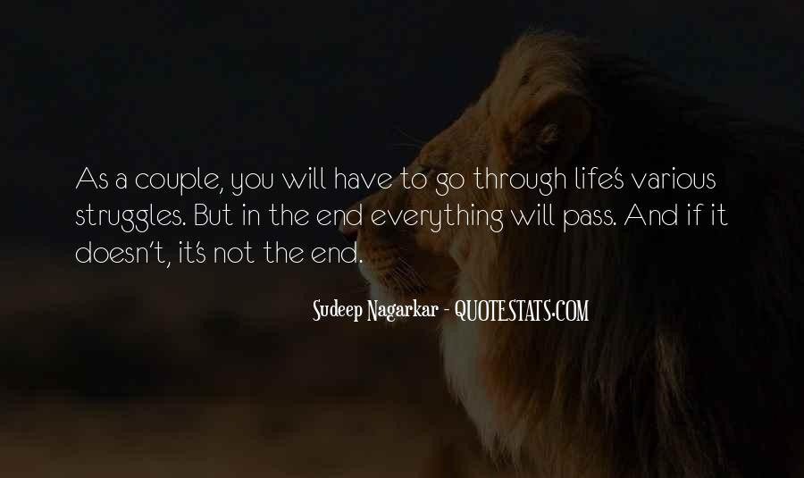 Life Doesn End Quotes #1034552