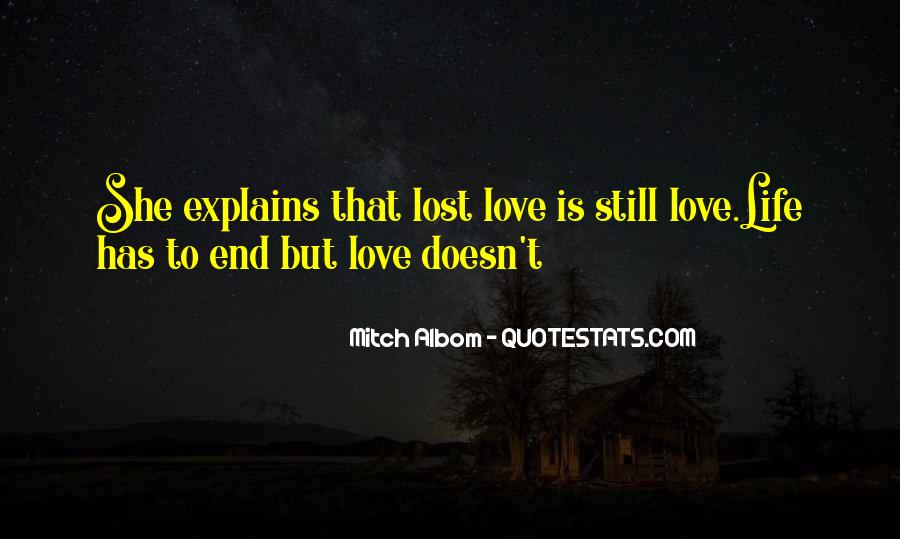 Life Doesn End Quotes #1129893