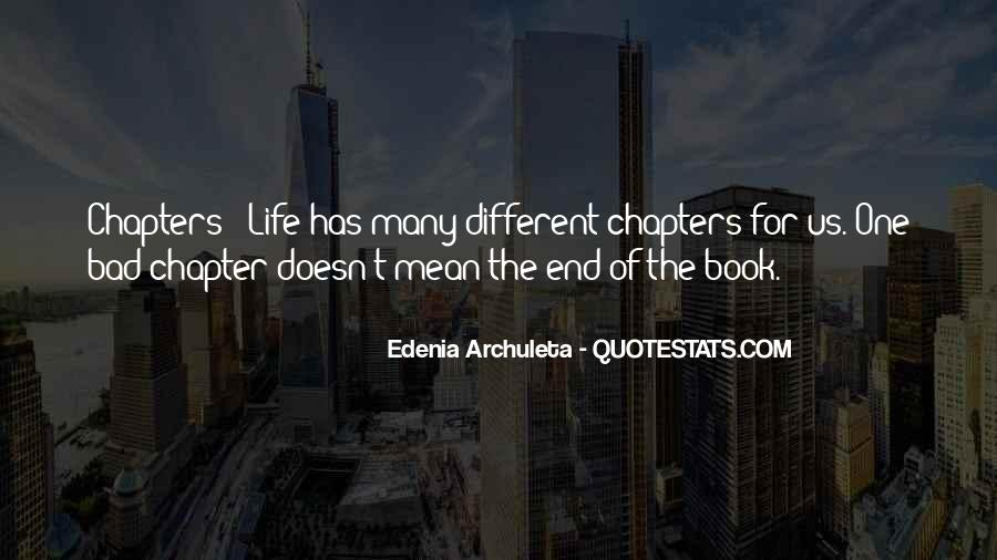 Life Doesn End Quotes #127272