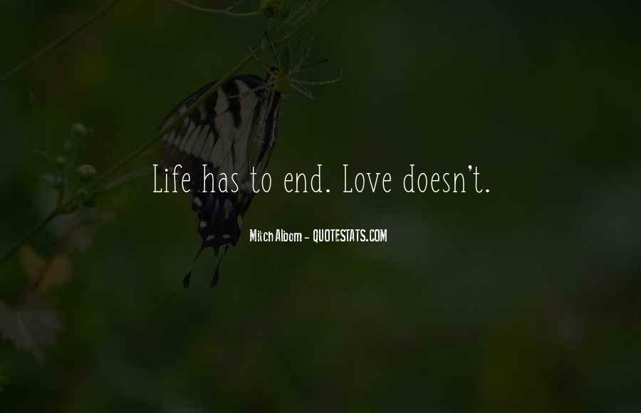 Life Doesn End Quotes #892266