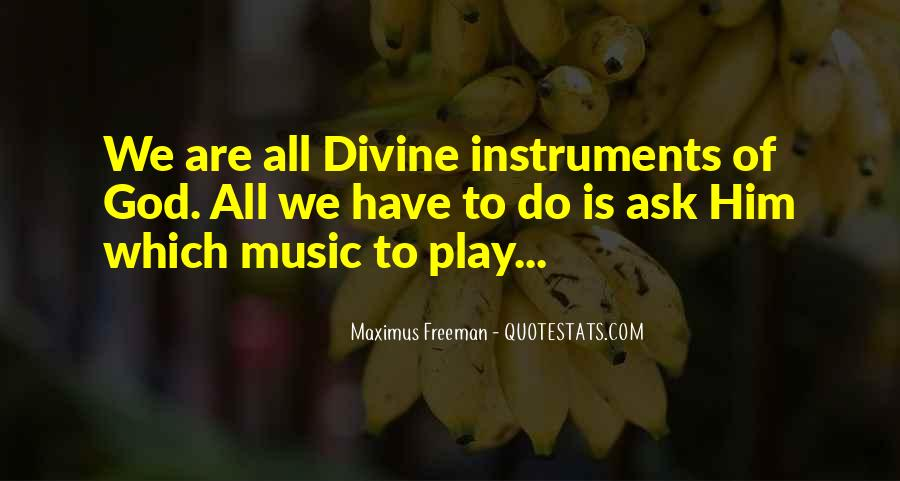 Quotes About Divine Music #1675045