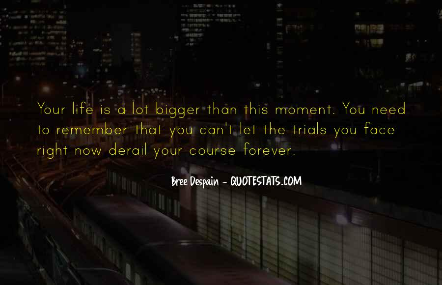 Life Is Bigger Than You Quotes #807759