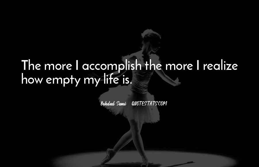 Life Is Empty Quotes #247701