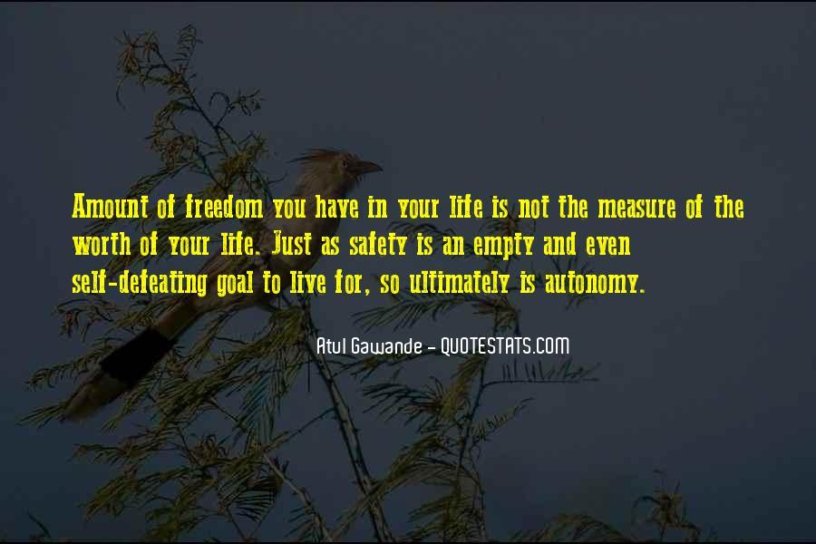 Life Is Empty Quotes #26952