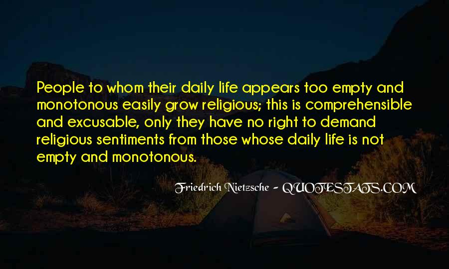 Life Is Empty Quotes #748200
