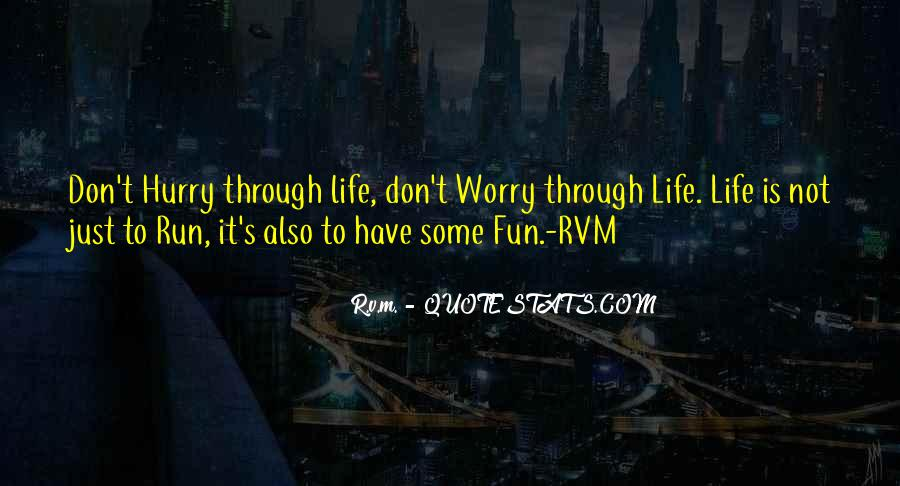 Life Is Not Fun Quotes #495456