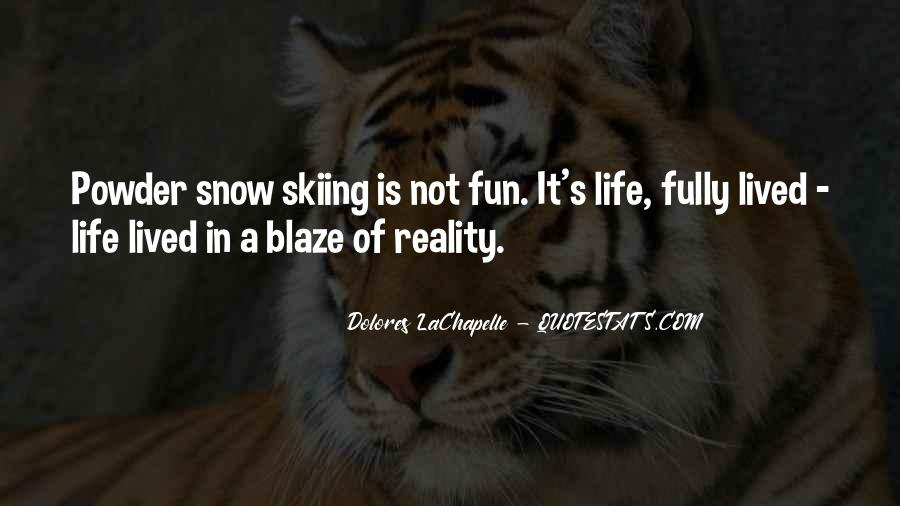Life Is Not Fun Quotes #51663