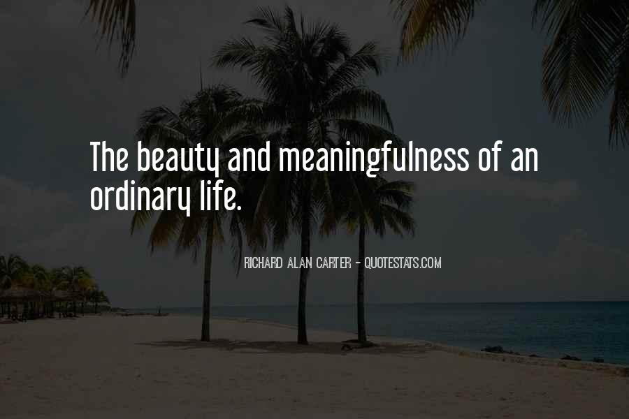 Life Less Ordinary Quotes #118756
