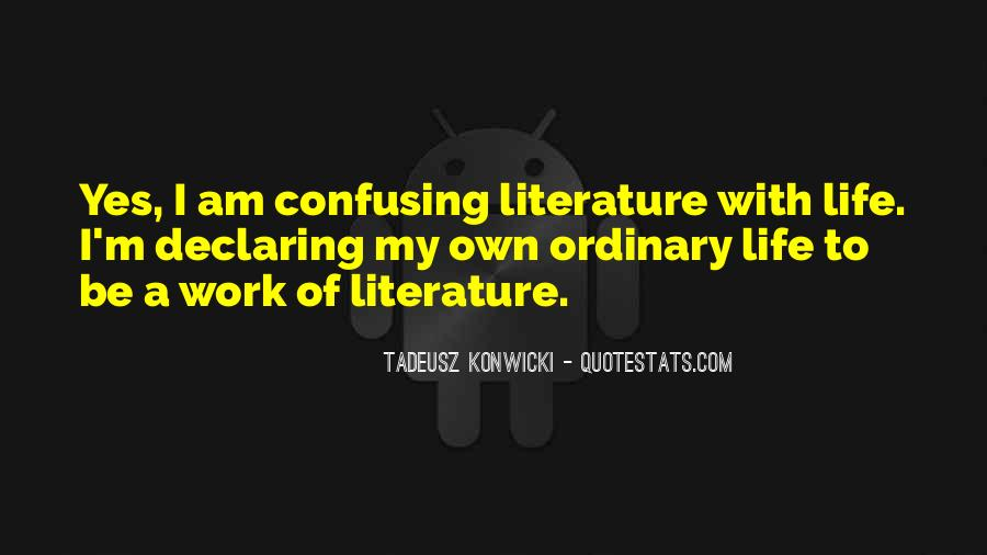 Life Less Ordinary Quotes #22949