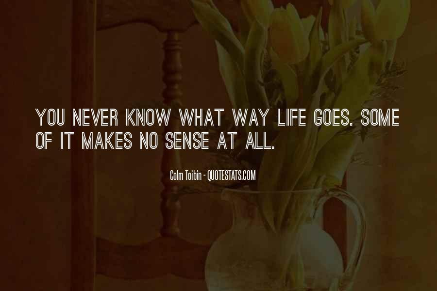 Life Makes No Sense Quotes #356042