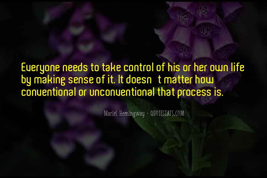 Life Making Sense Quotes #1067337