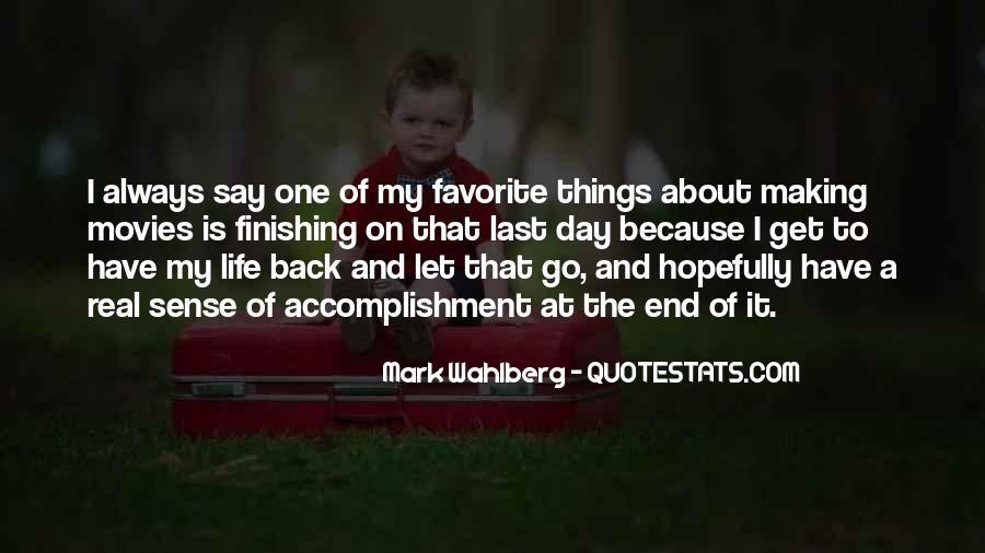 Life Making Sense Quotes #1390324