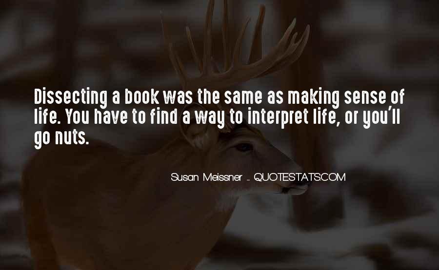 Life Making Sense Quotes #1691864