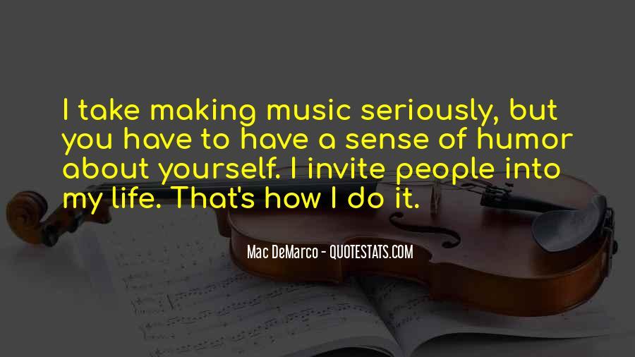 Life Making Sense Quotes #674669