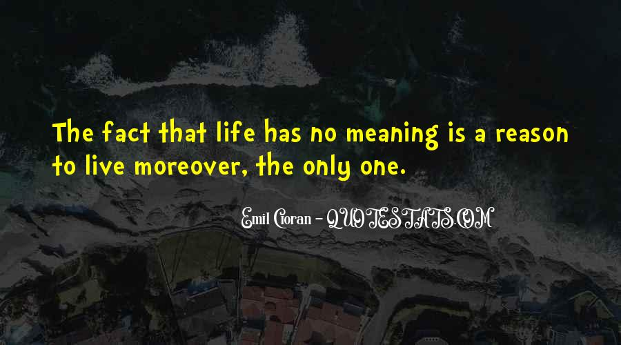 Life No Meaning Quotes #576224
