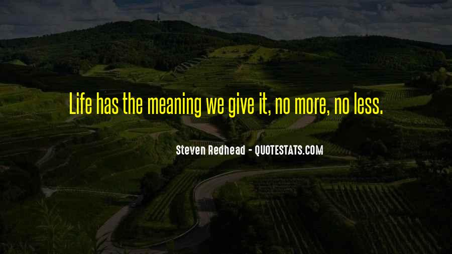 Life No Meaning Quotes #64656