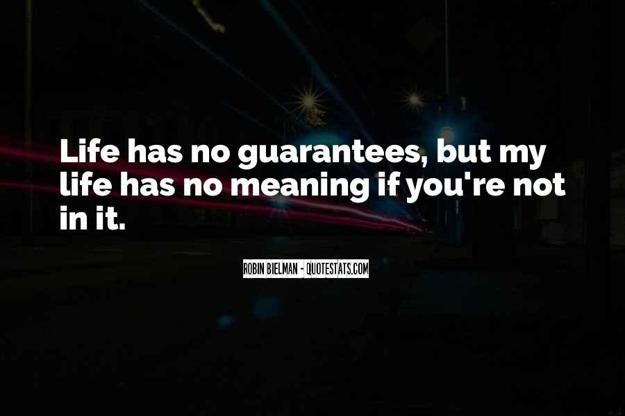 Life No Meaning Quotes #711617