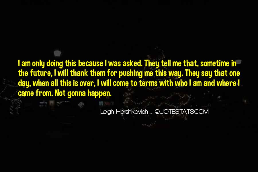 Life On My Own Terms Quotes #156701
