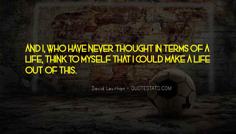 Life On My Own Terms Quotes #221673