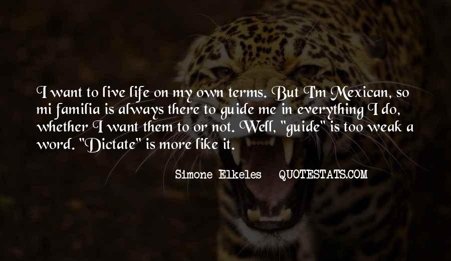 Life On My Own Terms Quotes #290696