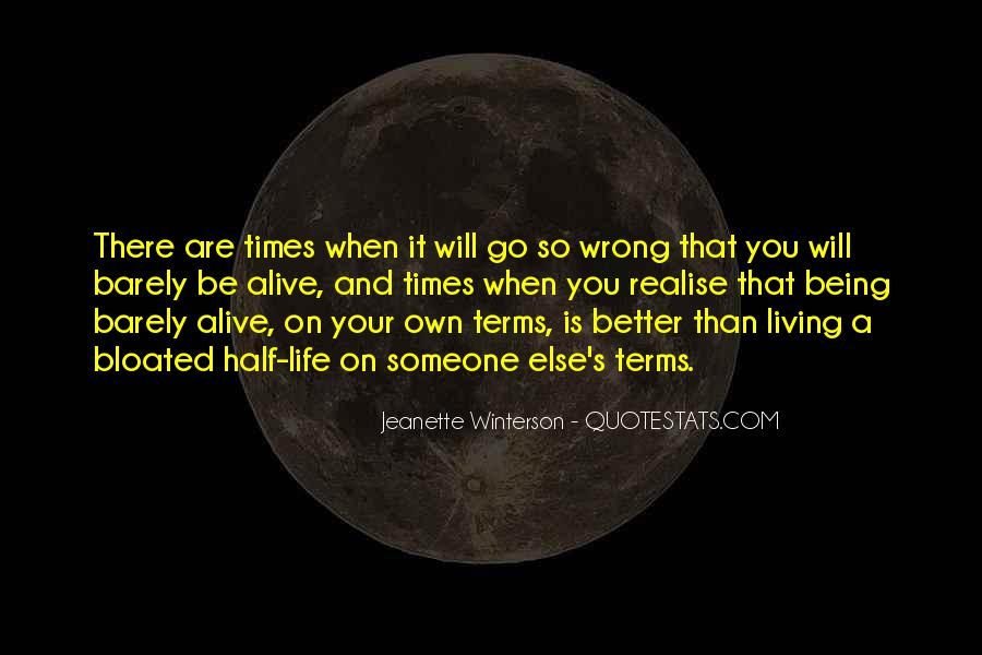 Life On My Own Terms Quotes #325235