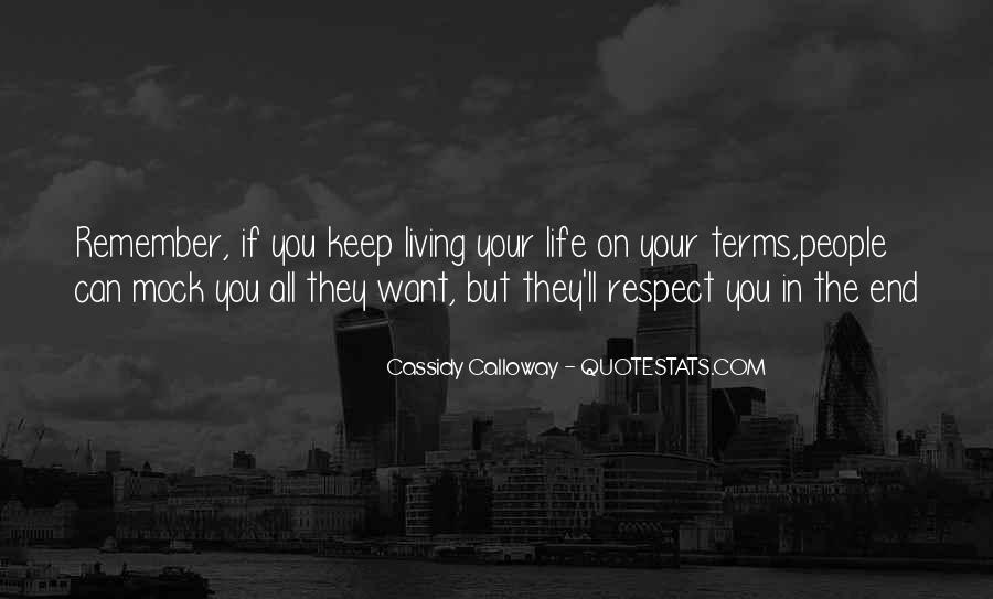 Life On My Own Terms Quotes #41128