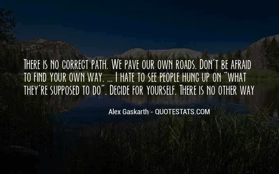 Life Path Way Quotes #34933