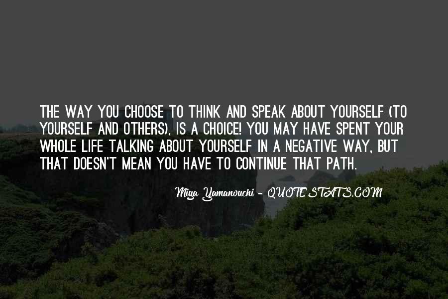 Life Path Way Quotes #989707