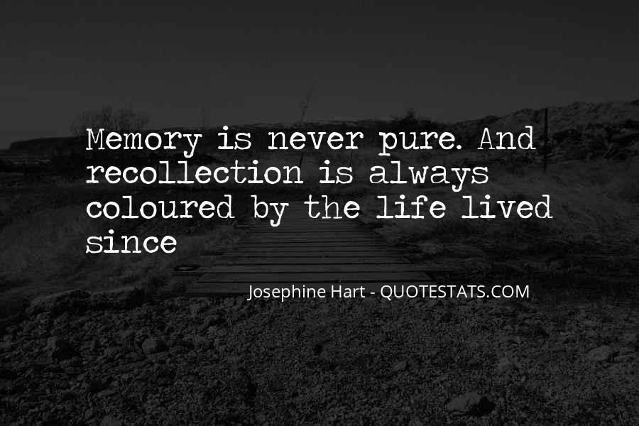 Life Recollection Quotes #1079414